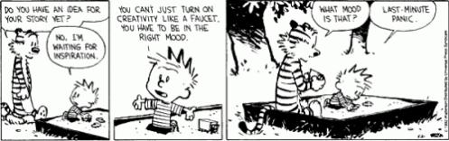 Calvin on Writing Creativity