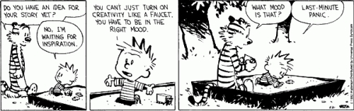 Calvin on Writing Creativity